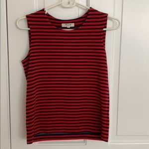 Madewell striped red and navy tank